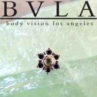BVLA 14kt Gold Mini Toltec Threaded End Dermal Top 18g 16g 14g 12g Body Vision Los Angeles