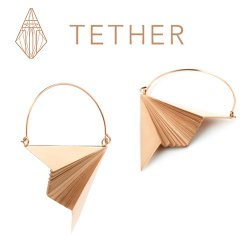 "Tether Jewelry Stainless Steel ""Vector"" Ear Hangers Earrings (Pair)"
