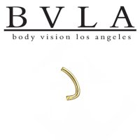 BVLA 14kt Gold J-Curved Barbell (Shaft Only) 14 Gauge 14g Body Vision Los Angeles