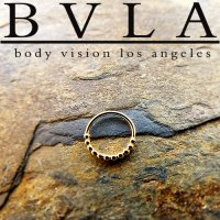 "BVLA 14kt Gold ""Oaktier"" Nose Nostril Septum Ring 18g Body Vision Los Angeles"