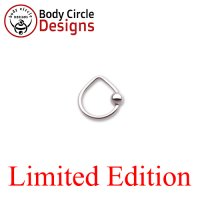"Body Circle Surgical Stainless Steel 3/8"" Triangle Captive Bead Ring 16 Gauge 16g"