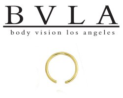 BVLA 14kt Gold Ring without a bead 18g Body Vision Los Angeles