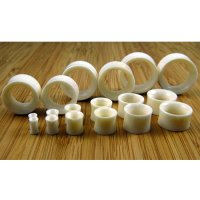 "Water Buffalo Bone Organic Eyelets Double Flared Tunnels 8g - 1"" (Pair) 3mm - 17.5mm"
