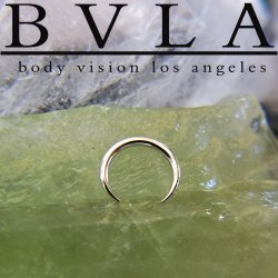 BVLA 14kt Gold Pincher Nose Nostril Septum Ring 16g Body Vision Los Angeles