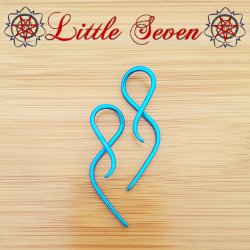 "Little Seven Niobium mini ""Goddess"" Hanging Twists 12 Gauge 12g (Pair)"
