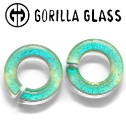 Gorilla Glass Deluxe Dichroic Round Saturns 0.5oz Ear Weights 00 Gauge 00g And Up (Pair)