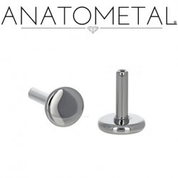 "Anatometal Threadless Titanium Universal Flatback Disk Labret Post Stud Lip Ring 16 Gauge 16g (Accepts Only 18 gauge ends) ""Press-fit"""