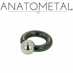 Anatometal Niobium Screw on Ball Ring 4 Gauge 2 Gauge 4g 2g