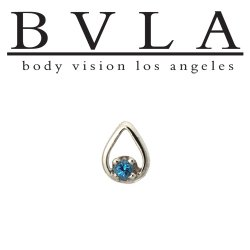 "BVLA 14Kt Gold ""Melody Tear"" Threadless End 18g 16g 14g ""Press-fit"""