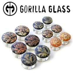 "Gorilla Glass Torian Plugs 1/2"" to 1 1/4"" (Pair)"