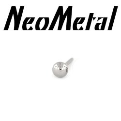 "18 Gauge 18g NeoMetal Threadless Titanium Ball 1/16"" ""Press-fit"""