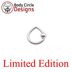 "Body Circle Surgical Stainless Steel 7/16"" Triangle Captive Bead Ring 14 Gauge 14g"