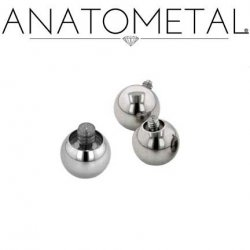 Anatometal Surgical Steel Threaded Ball End 6g Gauge