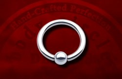 "Body Circle Surgical Stainless Steel Captive Bead Ball Closure 1/2"" Ring 12 Gauge 12g Sale!"