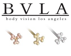 BVLA 14kt Yellow White Rose Gold 9 Bead Symbol Nostril Screw Nose Bone Nail Ring Stud 20g 18g 16g Body Vision Los Angeles