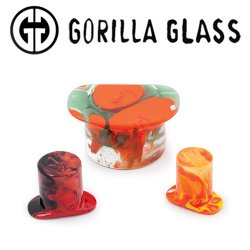 Gorilla Glass Power Labrets 0 Gauge to 1""