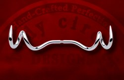 Body Circle Stainless Surgical Steel Double Curl Septum Spike 12g 10g 8g