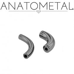 Anatometal Niobium Internally Threaded Curved Barbell (Shaft Only, No Ends) 2g 0g