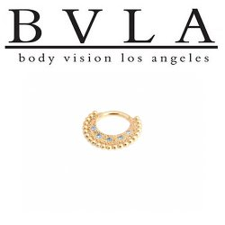 BVLA Inara 14kt Gold Septum Ring Clicker 16g Body Vision Los Angeles