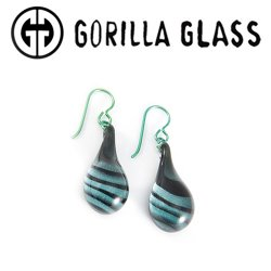 Gorilla Glass Tiger Stripe Earrings (Pair)