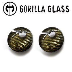 "Gorilla Glass Iridescent Eclipses 1.5oz Ear Weights 1/2"" And Up (Pair)"