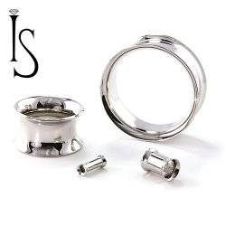 Industrial Strength Stainless Surgical Steel Double Flared Eyelets 8g through 2""