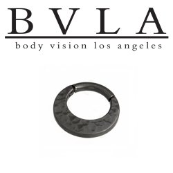"BVLA Black Gold ""Dark Age Quarencia"" Septum Clicker Hinged Ring 16 Gauge 16g Body Vision Los Angeles"