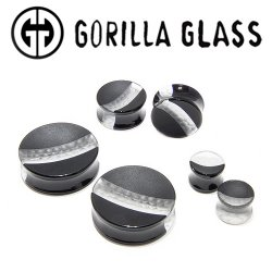 "Gorilla Glass Hybrid Concave Plugs 1/2"" Gauge to 2"" (Pair)"