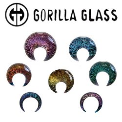 Gorilla Glass Dichroic Septum Pincher 8 Gauge to 1/2""
