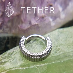 "Tether Jewelry Stainless Steel ""Double Eclipso"" Clicker 14 Gauge 14g"