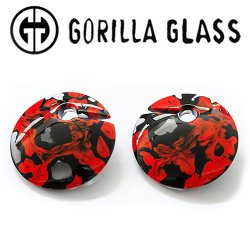 "Gorilla Glass Power Eclipse 1.5oz Ear Weights 1/2"" And Up (Pair)"