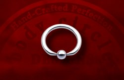 Body Circle Surgical Stainless Steel Flat Bottom Tip Captive Bead Ball Closure Ring 12g 12 Gauge