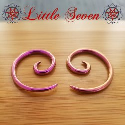 Little Seven Niobium Small Spirals 12 Gauge 12g (Pair)