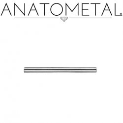 6 Gauge 6g Anatometal Surgical Stainless Steel Internally Threaded Straight Barbell (Shaft Only, No Ends)