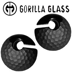 "Gorilla Glass Martele Eclipses 4.2oz Ear Weights 7/8"" And Up (Pair)"