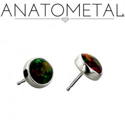 Anatometal Titanium 4mm Bezel-set Gem Earrings (Pair)