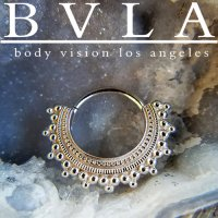 BVLA Afghan 14kt Gold Septum Ring 14g Body Vision Los Angeles