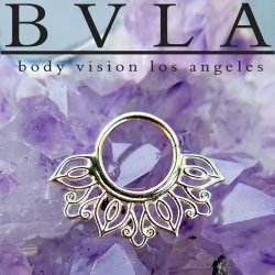"BVLA 14kt Gold ""Azalea"" Nose Nostril Septum Ring 18g Body Vision Los Angeles"