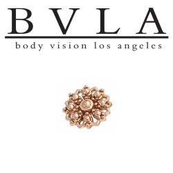"BVLA 14kt Gold ""Rosette"" Threadless End 18g 16g 14g ""Press-fit"""