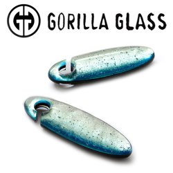 "Gorilla Glass Fused Dichroic Cocoons 2.1oz Ear Weights 1/2"" And Up (Pair)"