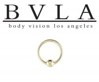 BVLA 14kt Gold Fixed Bead Ring Or Captive Bead Closure Ring 18g Body Vision Los Angeles
