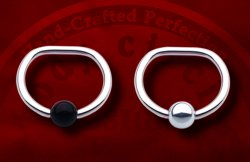 Body Circle Surgical Stainless Steel D Captive Bead Ball Closure Ring 12g 12 Gauge