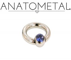 Anatometal Surgical Steel Gem Captive Bead Ball Closure Ring 4g 4 Gauge