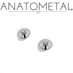 Anatometal Titanium Threaded Dome End 4 Gauge 4g