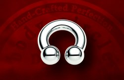 "Body Circle Surgical Stainless Steel 1/2"" Circular Horseshoe Barbell 6 Gauge 6g Sale!"