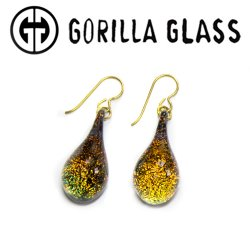 Gorilla Glass Dichroic Earrings (Pair)