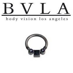 BVLA Princess Faraway Black Gold Septum Clicker 12g Body Vision Los Angeles
