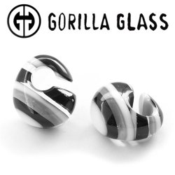 "Gorilla Glass Linear Kettlebells 2oz Ear Weights 3/4"" And Up (Pair)"