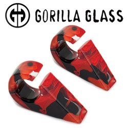 "Gorilla Glass Power Triangles 0.4oz Ear Weights 9/16"" And Up (Pair)"