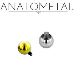 Anatometal Titanium Threaded Ball End 6 Gauge 6g